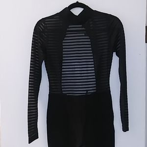 Black long sleeves/pants One piece